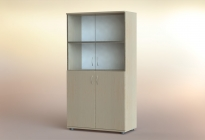 Стеллаж РСЛ-83.4 ст  (стеклянная дверь)